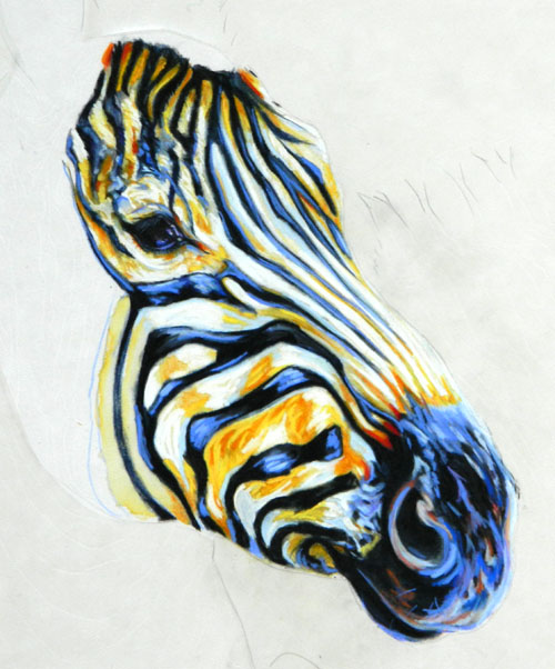 zebra painting | Fur In The Paint