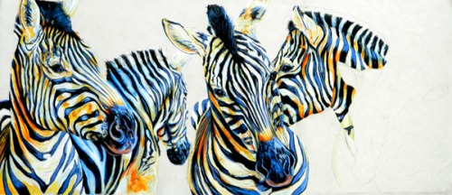 Zebra Painting in progress